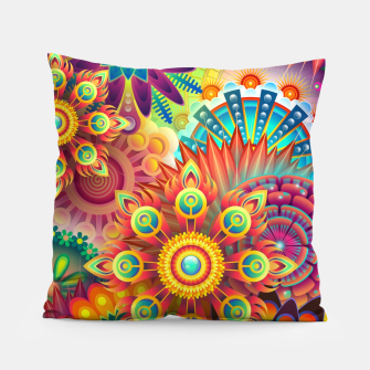 Cracy Mandala Rainbow Design Pillow thumbnail image