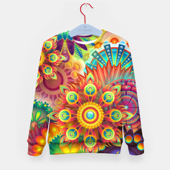Cracy Mandala Rainbow Design Kid's sweater thumbnail image