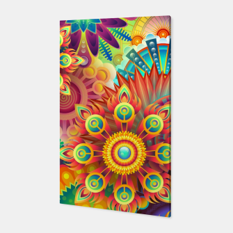 Cracy Mandala Rainbow Design Canvas thumbnail image
