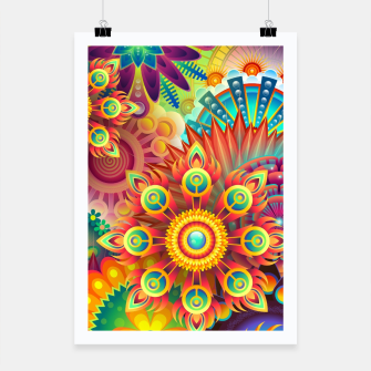 Cracy Mandala Rainbow Design Poster thumbnail image