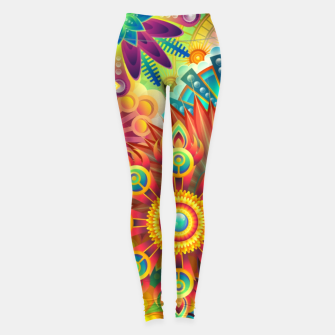 Cracy Mandala Rainbow Design Leggings thumbnail image