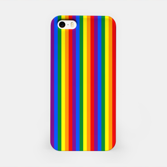 Thumbnail image of Mini Vertical Gay Pride Rainbow Beach Stripes iPhone Case, Live Heroes