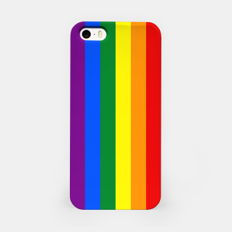 Thumbnail image of Large Vertical Gay Pride Rainbow Beach Stripes iPhone Case, Live Heroes