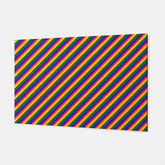 Miniatur Gay Pride Flag Candy Cane Diagonal Stripe Canvas, Live Heroes
