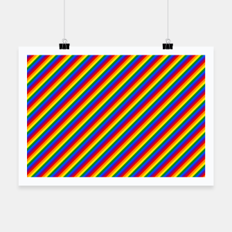 Miniatur Gay Pride Flag Candy Cane Diagonal Stripe Poster, Live Heroes