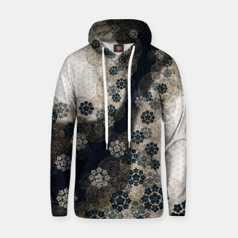 Thumbnail image of Japanese traditional family emblem art Cherry blossoms blue Cotton hoodie, Live Heroes