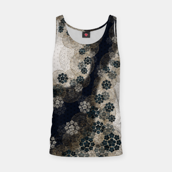 Thumbnail image of Japanese traditional family emblem art Cherry blossoms blue Tank Top, Live Heroes