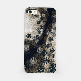 Thumbnail image of Japanese traditional family emblem art Cherry blossoms blue iPhone Case, Live Heroes