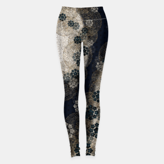 Thumbnail image of Japanese traditional family emblem art Cherry blossoms blue Leggings, Live Heroes