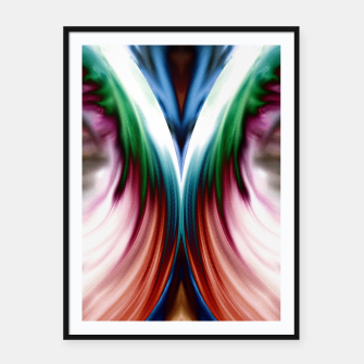 Thumbnail image of Whirlwind Rainbow Golden Snow Mirror Framed poster, Live Heroes