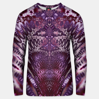 Magenta and Maroon Fractal Wave Cotton sweater Bild der Miniatur