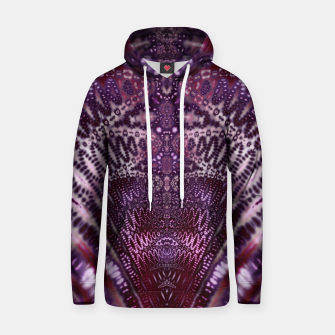 Magenta and Maroon Fractal Wave Cotton hoodie Bild der Miniatur