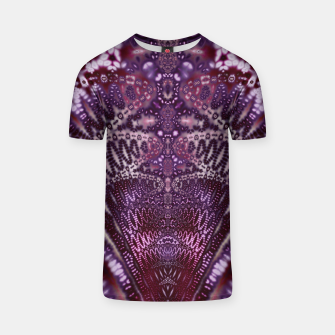 Thumbnail image of Magenta and Maroon Fractal Wave T-shirt, Live Heroes