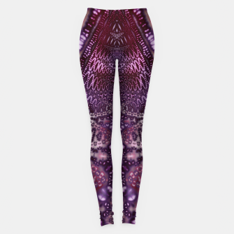 Magenta and Maroon Fractal Wave Leggings Bild der Miniatur