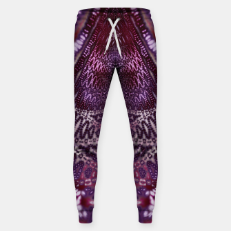 Magenta and Maroon Fractal Wave Cotton sweatpants Bild der Miniatur