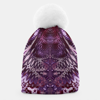 Thumbnail image of Magenta and Maroon Fractal Wave Beanie, Live Heroes
