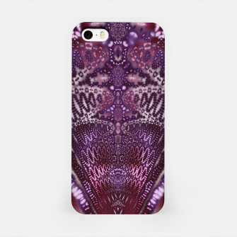 Magenta and Maroon Fractal Wave iPhone Case Bild der Miniatur