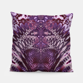 Magenta and Maroon Fractal Wave Pillow Bild der Miniatur