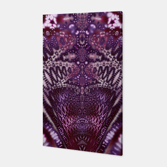 Miniatur Magenta and Maroon Fractal Wave Canvas, Live Heroes