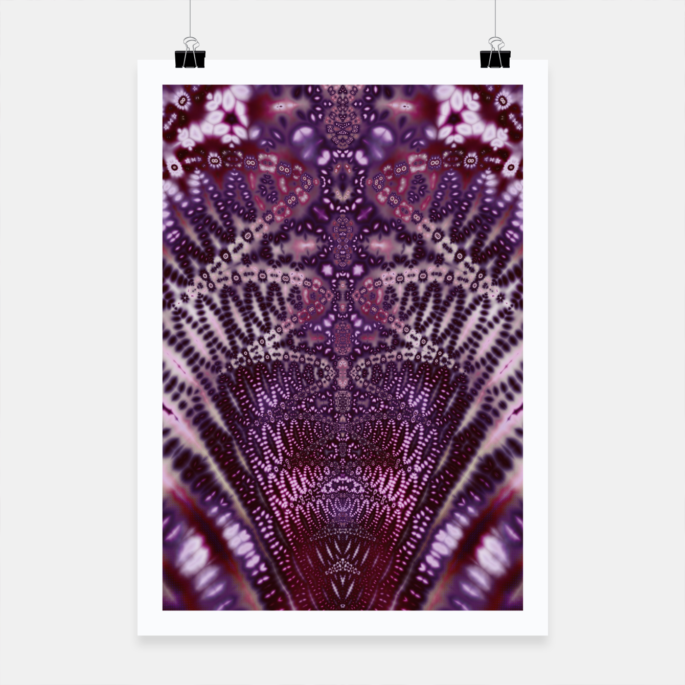Foto Magenta and Maroon Fractal Wave Poster - Live Heroes