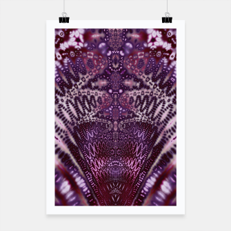 Thumbnail image of Magenta and Maroon Fractal Wave Poster, Live Heroes