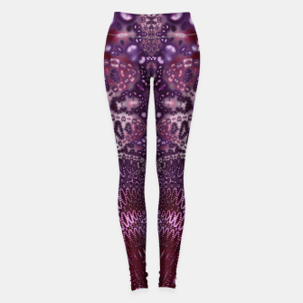 Miniatur Magenta and Maroon Fractal Wave Leggings, Live Heroes