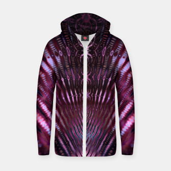 Divinite Purple Cotton zip up hoodie Bild der Miniatur