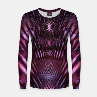 Thumbnail image of Divinite Purple Woman cotton sweater, Live Heroes