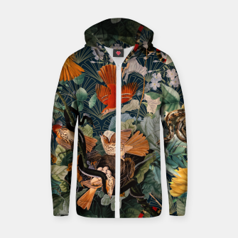 Miniatur Birds and snakes Cotton zip up hoodie, Live Heroes