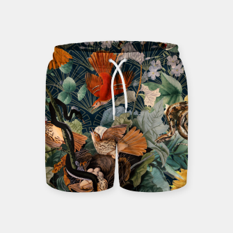 Miniatur Birds and snakes Swim Shorts, Live Heroes