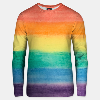 Miniatur Large Hand Painted Watercolor Gay Pride Rainbow Equality and Freedom Flag Cotton sweater, Live Heroes