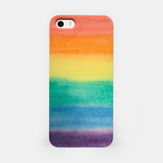 Miniatur Large Hand Painted Watercolor Gay Pride Rainbow Equality and Freedom Flag iPhone Case, Live Heroes