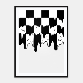 Thumbnail image of Dripping checkerboard Framed poster, Live Heroes