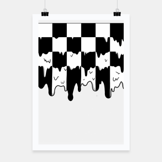 Thumbnail image of Dripping checkerboard Poster, Live Heroes