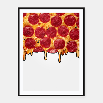 Thumbnail image of Grime art Pizza Framed poster, Live Heroes