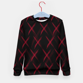 Thumbnail image of Dark pattern Kid's sweater, Live Heroes