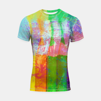 Thumbnail image of Paint Colour Rainbow Design Shortsleeve rashguard, Live Heroes