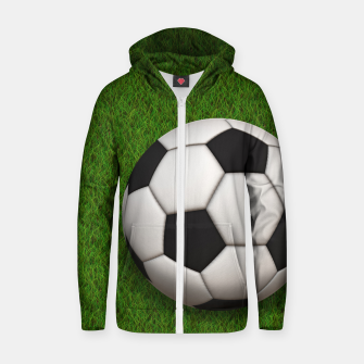 Thumbnail image of Ball Sport Soccer New Black Cotton zip up hoodie, Live Heroes