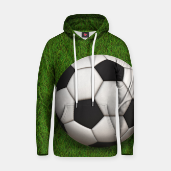 Thumbnail image of Ball Sport Soccer New Black Cotton hoodie, Live Heroes