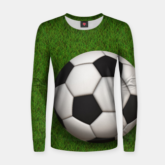 Thumbnail image of Ball Sport Soccer New Black Woman cotton sweater, Live Heroes
