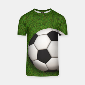 Thumbnail image of Ball Sport Soccer New Black T-shirt, Live Heroes