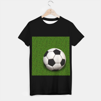 Thumbnail image of Ball Sport Soccer New Black T-shirt regular, Live Heroes