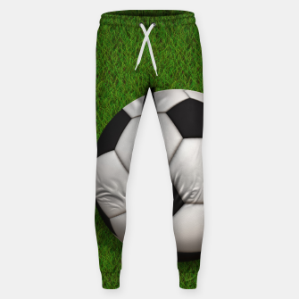 Thumbnail image of Ball Sport Soccer New Black Cotton sweatpants, Live Heroes