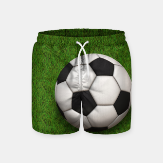 Thumbnail image of Ball Sport Soccer New Black Swim Shorts, Live Heroes