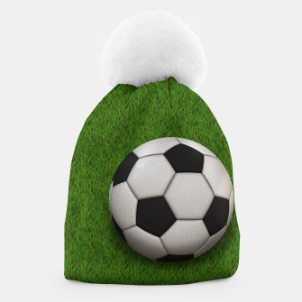 Thumbnail image of Ball Sport Soccer New Black Beanie, Live Heroes