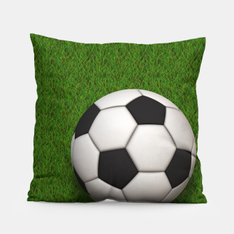 Thumbnail image of Ball Sport Soccer New Black Pillow, Live Heroes