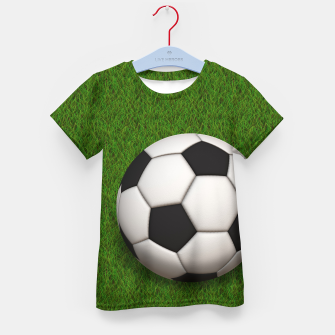 Thumbnail image of Ball Sport Soccer New Black Kid's t-shirt, Live Heroes
