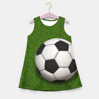 Thumbnail image of Ball Sport Soccer New Black Girl's summer dress, Live Heroes
