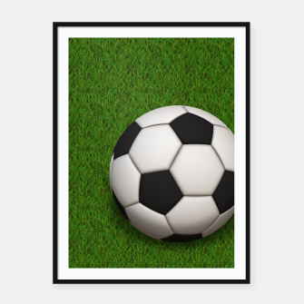 Thumbnail image of Ball Sport Soccer New Black Framed poster, Live Heroes