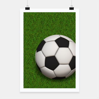 Thumbnail image of Ball Sport Soccer New Black Poster, Live Heroes